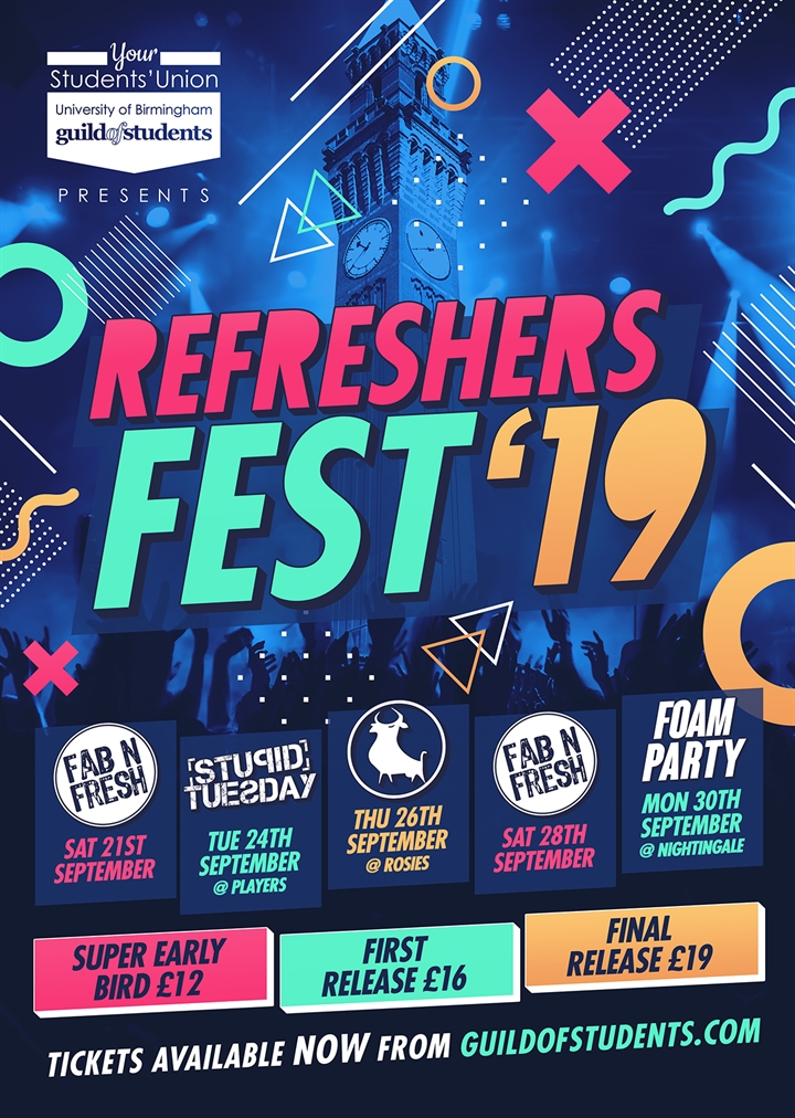 Refreshers Fest Ticket Collection Slot