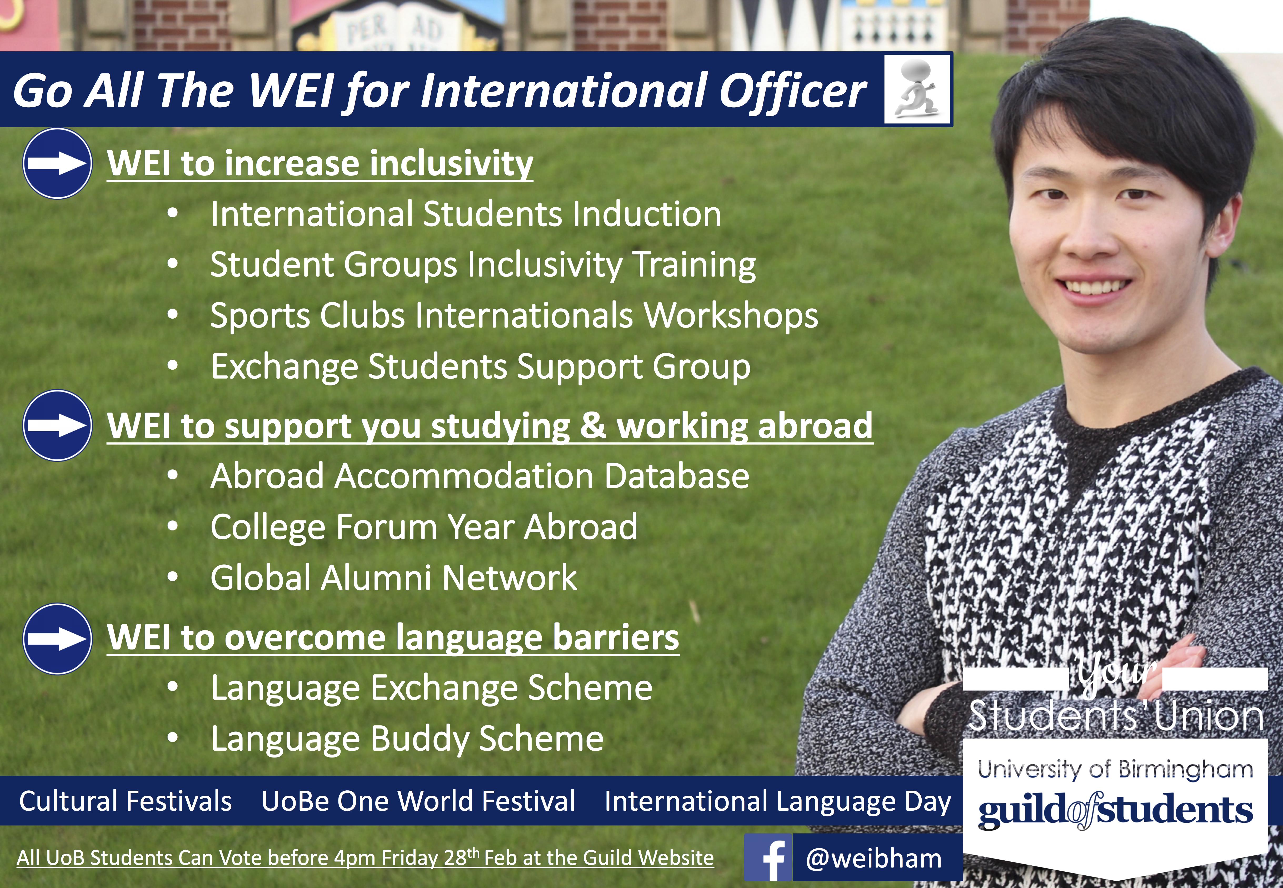 Wei-Lin - International Officer Manifesto