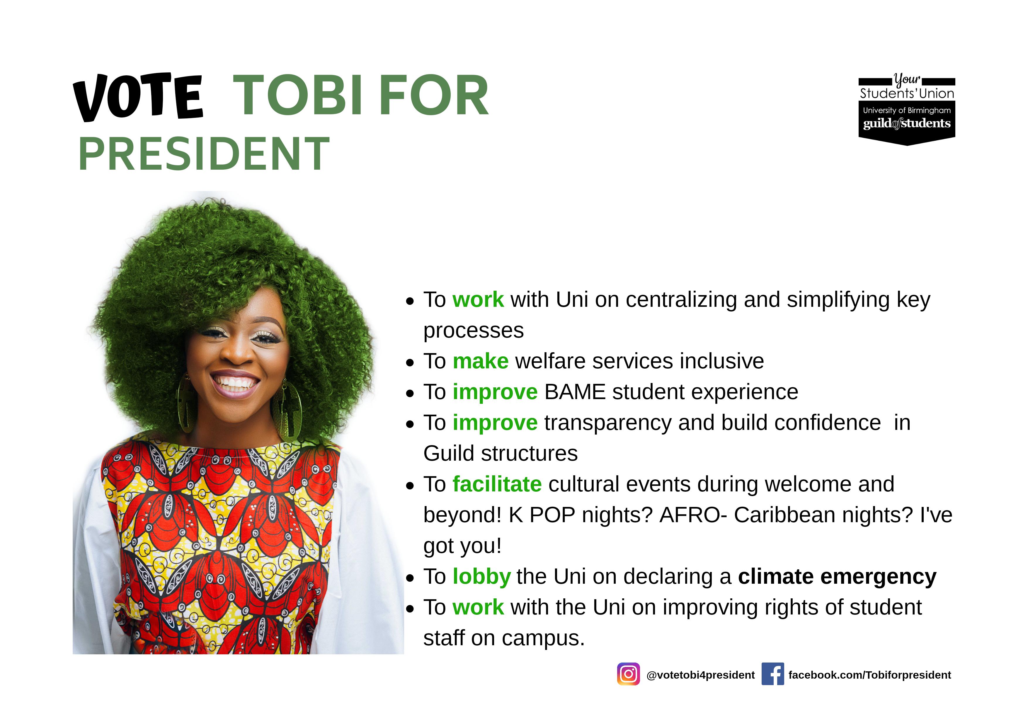 Tobi - President Manifesto