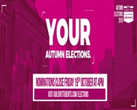 Your Autumn Elections - Nominations close Friday 19th October at 4pm