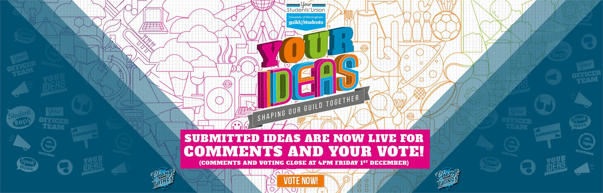 Your Ideas - Submitted Ideas are now live for comments and your vote - Voting closes 01/12/17 at 4pm