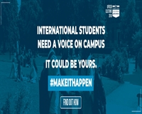 International Students need a voice on campus. It could be yours #makeithappen