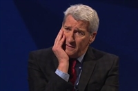 Picture shows Jeremy Paxman looking dismayed