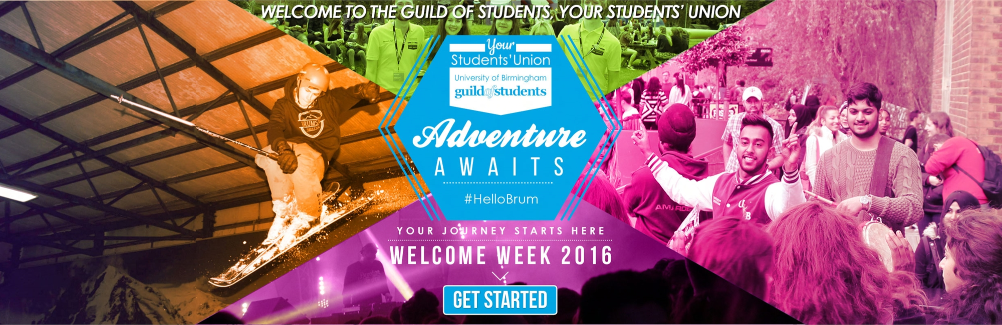 adventure awaits banner for start of new academic year 2016-17