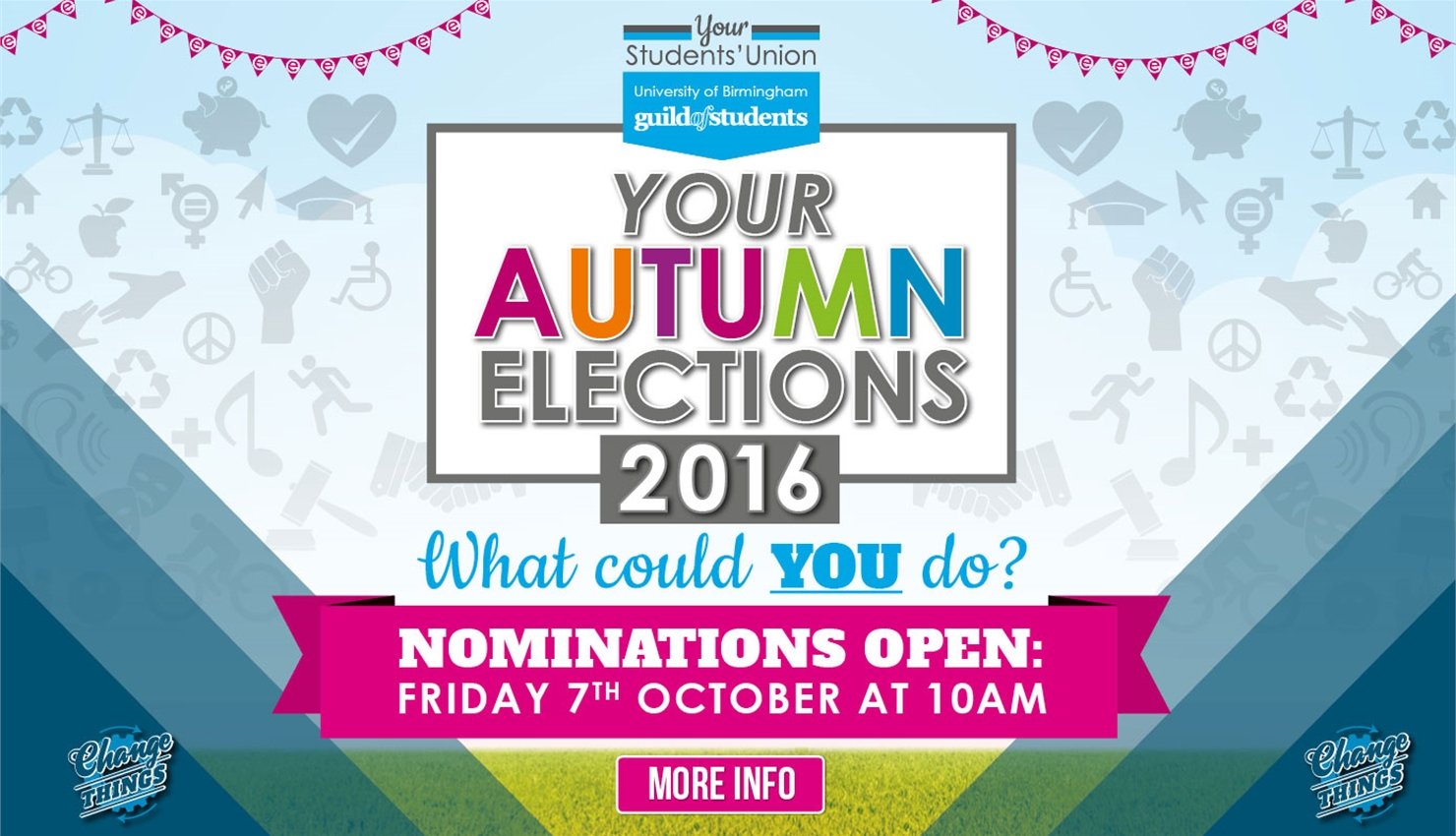 The Autumn Term Elections are your chance to decide who'll join the team of officers leading your Gu