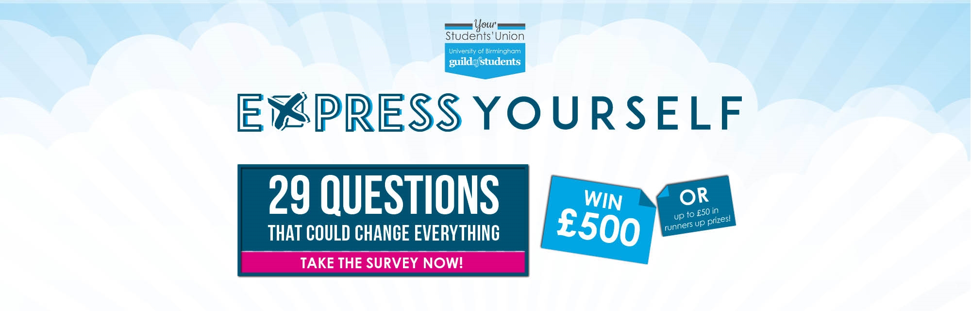 express yourself - your feedback could change everything - take our survey now