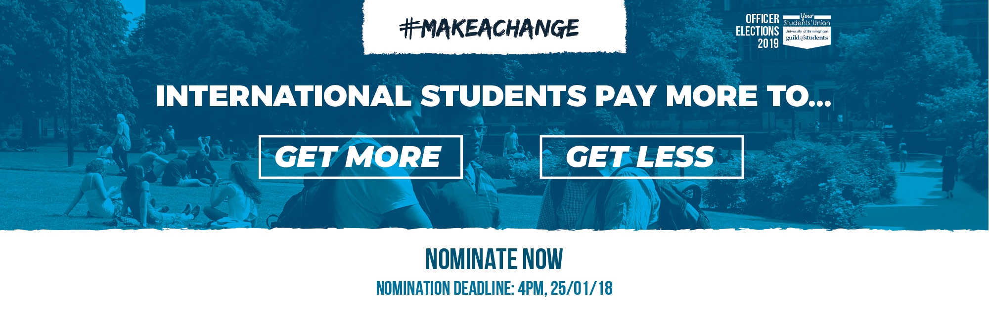 #makeachange - International Students pay more too.... - Nominate Now