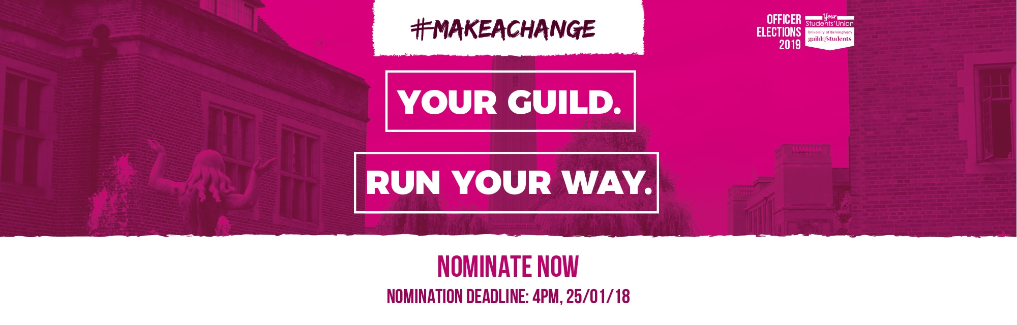 #makeachange - Your Guild Run Your Way - Nominate Now