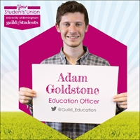 Adam Goldstone, Education Officer - twitter handle @guild_education