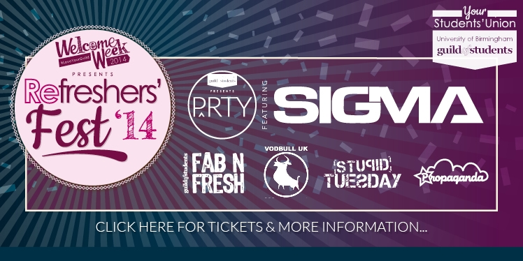 Welcome Week presents Refreshers' Fest 2014