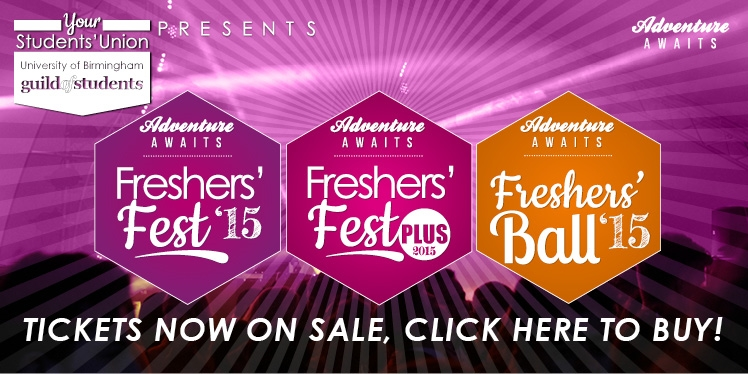 Freshers' Fest 2015 tickets on sale here now