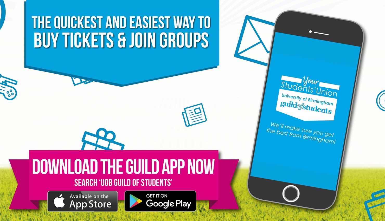 Download the new Guild App - available from iTunes and Google Play Stores NOW!!!