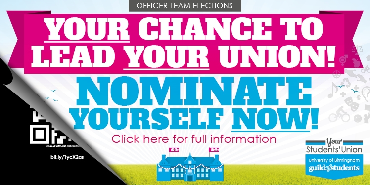 Your chancr to lead your union! Nominate yourself now! Click here for full information