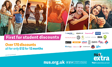 First for student discounts. Over 170 discounts all for only £12 for 12 months. nus.org.uk. NUS Extr