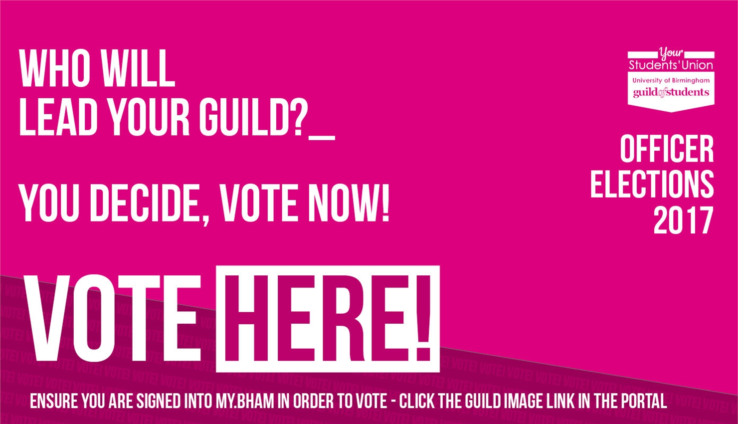 Guild Elections 2017 - Who will lead your guild - vote now