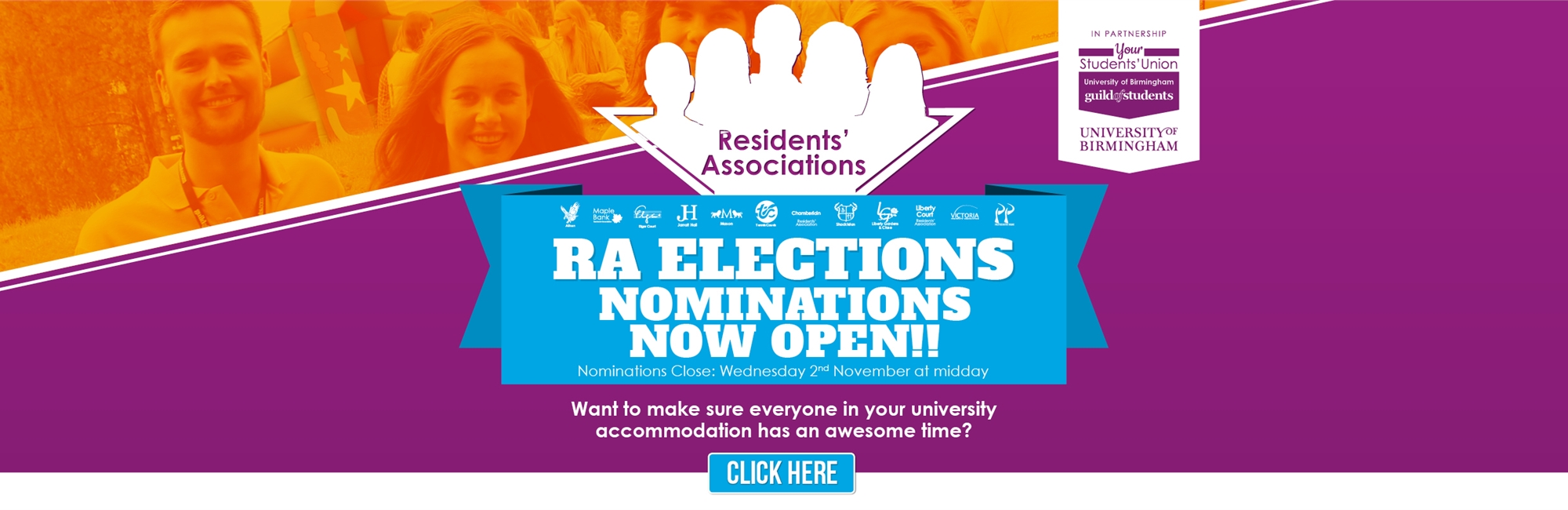 RA Elections - Nominations now open