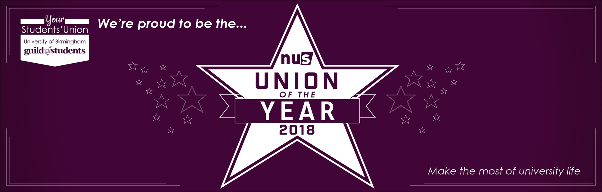 Guild of Students is proud to be the NUS Union of the Year 2018 - Make the most of University Life