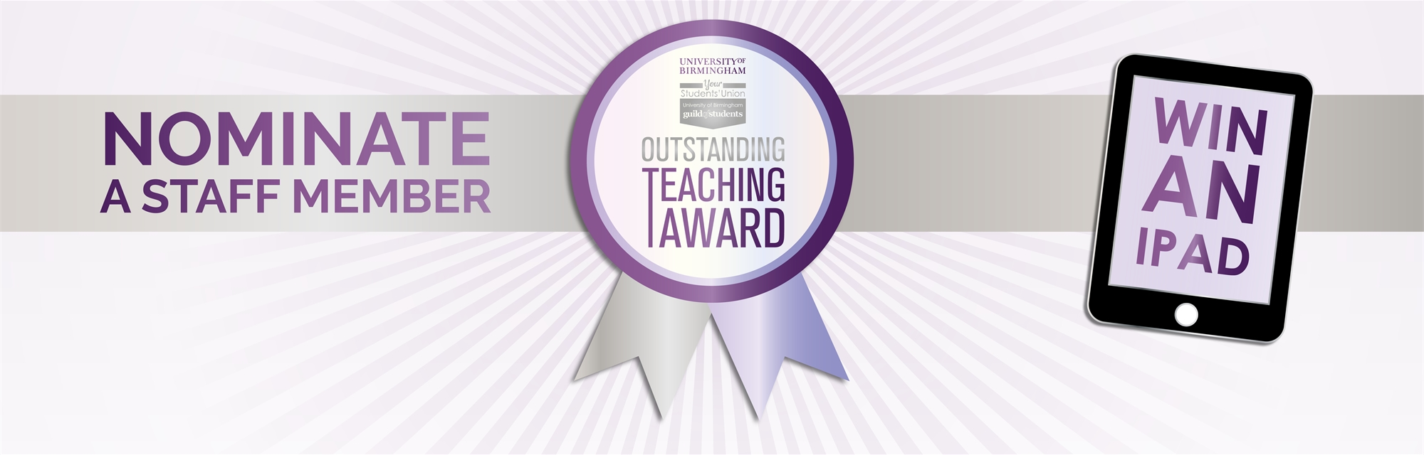 Outstanding Teaching Awards 2019 - Nominate a staff member - Click here for more information