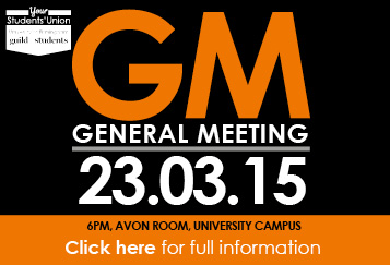 GM General Meeting 23.03.15. 6pm, Avon Room, University Campus. Click here for full inoformation