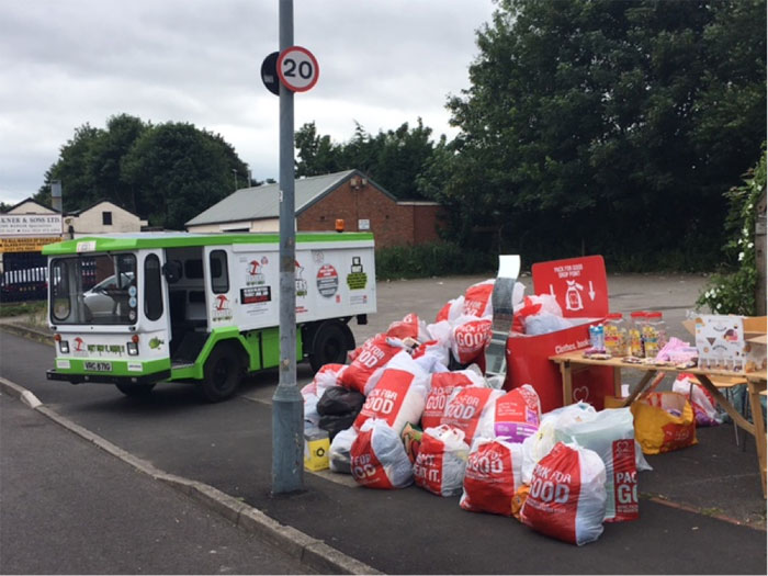 Junkbusters Float Collection along with Collection bags donated from the local area