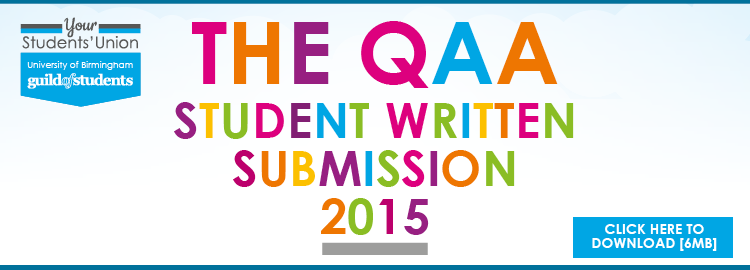 Image - The QAA student written submission 2015