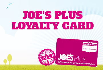 Joe's Plus loyalty card
