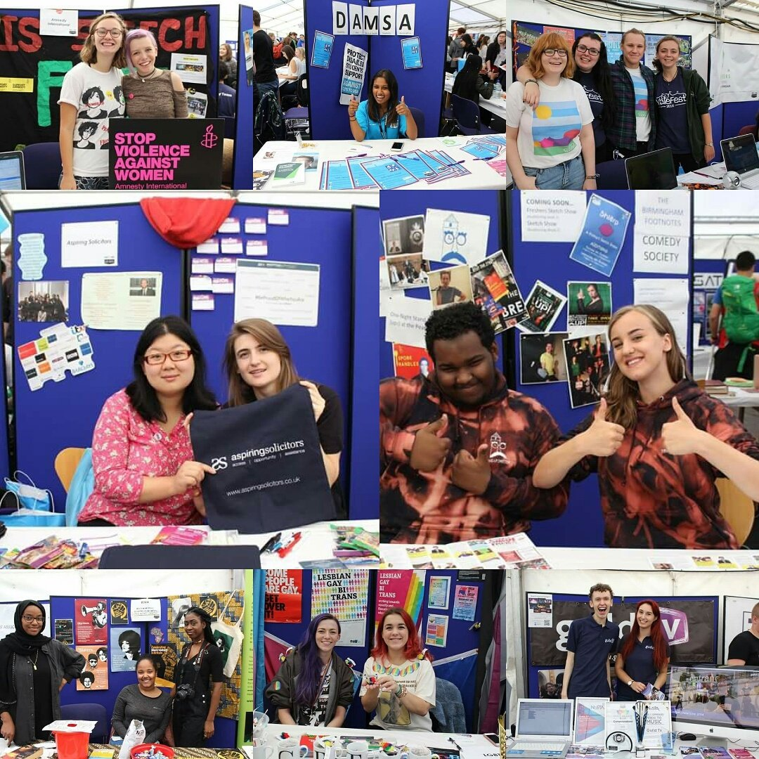 Student Groups Societies Fair 2016-17 - various group stalls