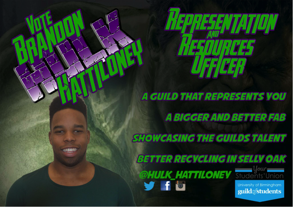 Brandon Hattiloney - Representation & Resources Officer Manifesto