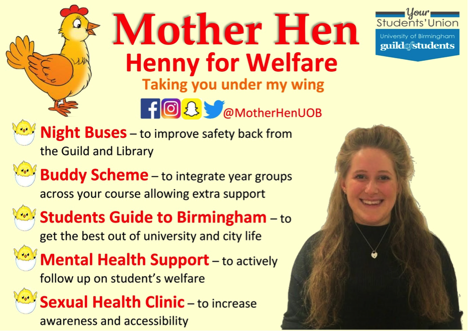 Henny Green - Welfare Officer 2017-18 Manifesto