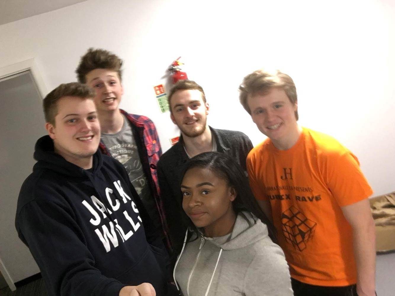 We are your current Residents' Association committee also known as RAs. From left we have Clinton, Axel, Rhia, Taylor and Richard