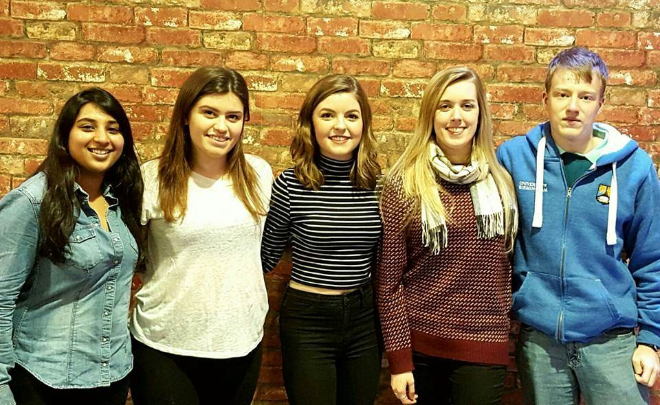 We are your Pritchatts Park Residents' Association committee, also known as RAs. We are Sneha (Ashcroft rep), Gina (International and Postgrad rep), Alice (Oakley rep), Ella (Pritchatts House rep) and Dan (Sports rep)