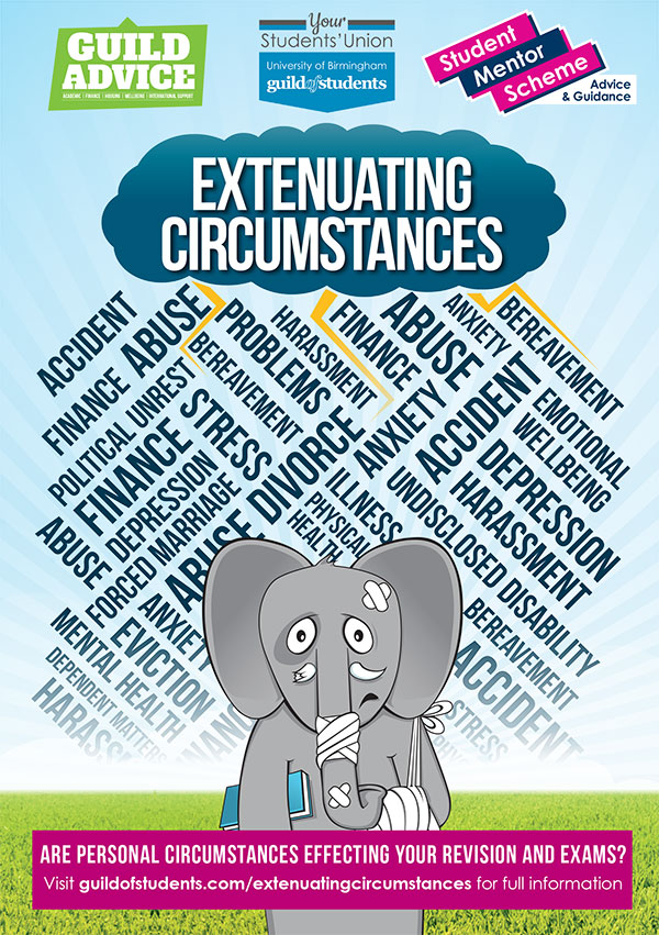 To highlight the importance of submitting extenuating circumstances early, we're running the #elephantintheroom campaign - Guild Advice