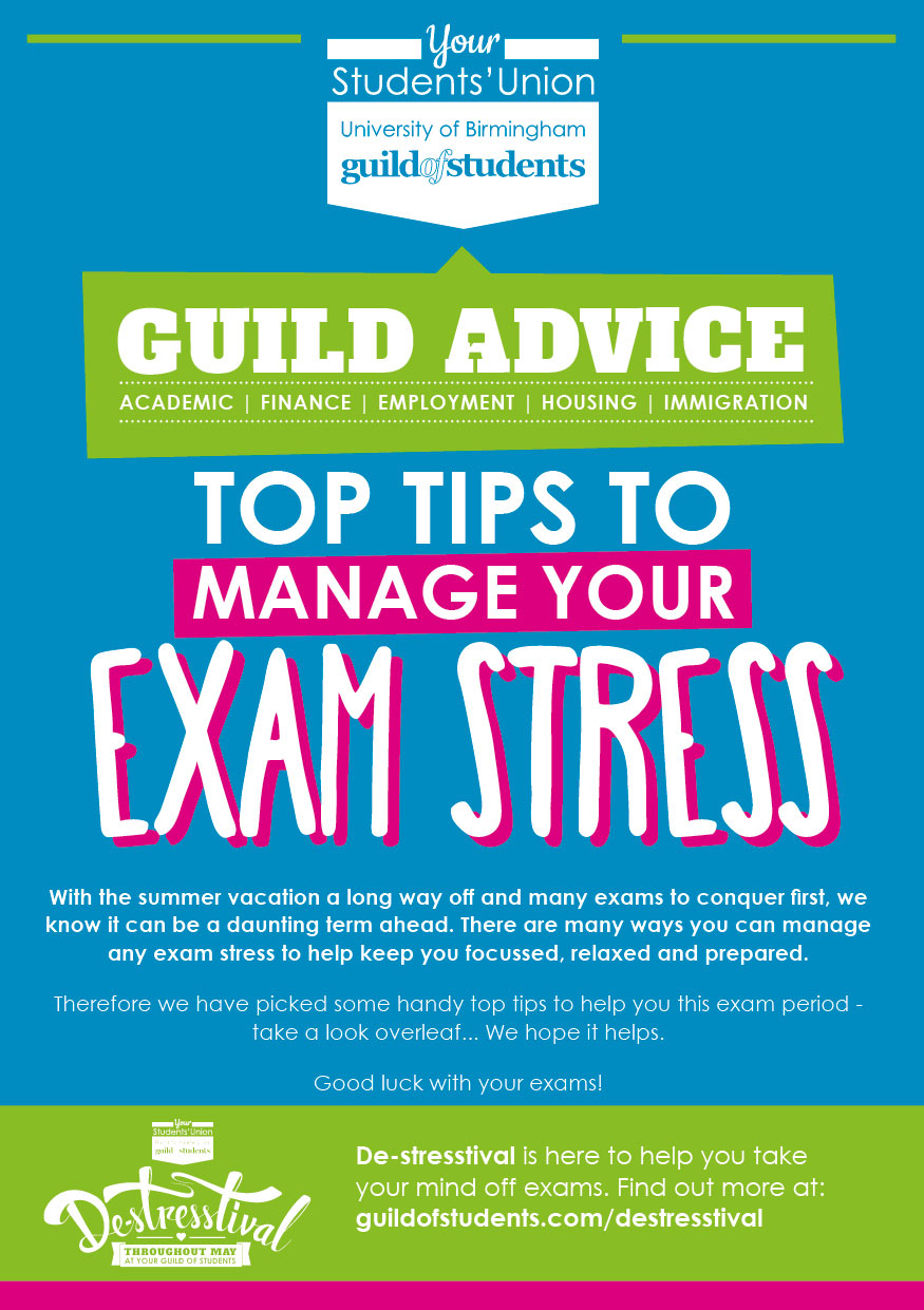 top tips to manage your exam stress exam stress