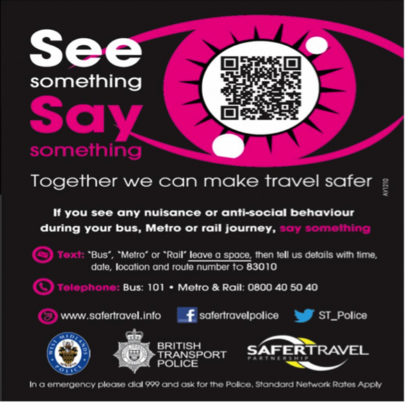 see something, say something, together we can make travel safer