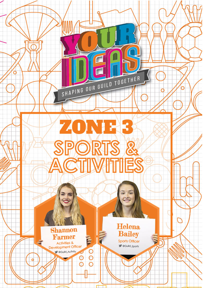here you can find all of the Ideas related extracurricular activities, including societies and sports teams at Birmingham. Shannon, your Activities and Development Officer, and Helena, your Sports Officer, take care of the ideas in this Zone. Get in touch with them to find out more about the Zone and what they're working on. Click here to see what Ideas are currently up for discussion and voting in the Sport & Activities Zone.