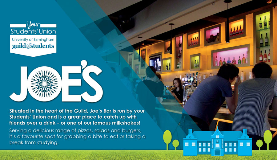 joes bar page header for tablet and mobile